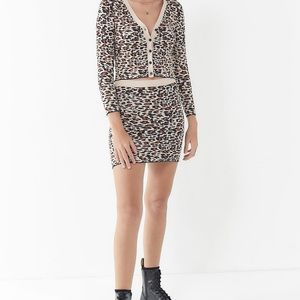UO cheetah print knit skirt